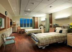Patient Room design in the Annenberg Pavilion at the Eisenhower Medical Center