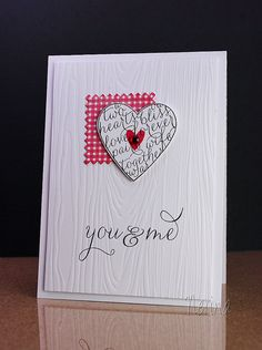 Valentine by Nerina's Cards (wood EF) CAS