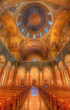 St. Louis Cathedral Basilica has beautiful religious mosaics and is reminiscent of old European cathedrals without the cost of international plane tickets!  Located at 4431 Lindell Blvd. St. Louis, MO 63108. Check out available times to visit at: www.cathedralstl.com