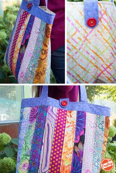Brighten up your ensemble by sewing this around-town tote bag using a vibrant array of fabrics from Kaffe Fassett's Classic Collection. You'll receive a pattern and all the fabric you need in your kit.