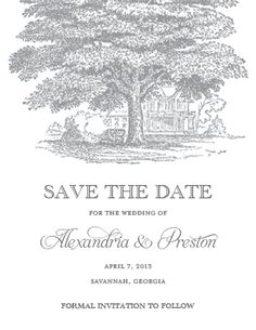 Southern Plantation Save the Date