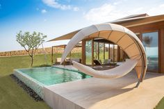 Fusion Resort Nha Trang brings a new level of luxury to the shores of southern Vietnam. It is an exceptional spa-inclusive beach resort on the. Luxury Spa, Luxury Resorts, Outdoor Living, Outdoor Decor, Cabana, Vietnam, House Plans, Pergola, Backyard