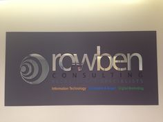 Reflective individual lettering used for Rowben recruitment consulting. Installed by Sign A Rama Box Hill.