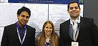 Biochemistry major Neil Patel '13 (first person on the left) has conducted research on the physiology of the organism that causes TB. This was done alongside Biology and Health Sciences Professor Marcy Kelly, with the Dyson Society of Fellows. Their research has been presented at national conferences. #PaceHonorsNYC