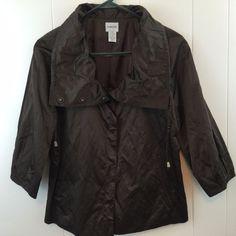 Brown #Metallic #Chicos #Jacket. Size 8/10.