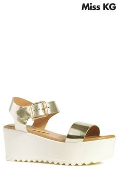 cbb53b8ce2677 Miss KG Poppie Gold Platform Sandal