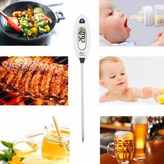 Digital Kitchen Food Thermometer With Long Probe Pen Shape Instant Read BBQ Cooking Meat Thermometer