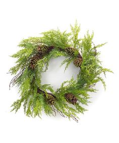 The bright green Melrose 32 in. Light Green Cypress and Pinecone Unlit Wreath is a perfect foil for any winter theme. This light green cypress wreath. Autumn Wreaths For Front Door, Xmas Wreaths, Door Wreaths, Grapevine Wreath, Christmas Projects, Christmas Time, Christmas 2017, Christmas Stuff, Christmas Ideas