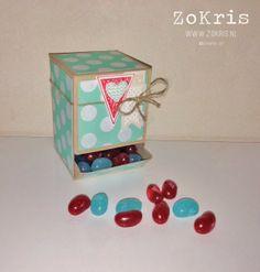 Mini Candy Dispenser - ZoKris  Free template (centimeters)