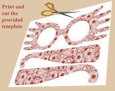 DIY Printable #lunalovegood #harrypotter Luna Lovegood Glasses: Print and Cut the Spectrespec Template