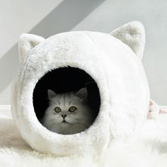 Niche Chat, Dog Beds For Small Dogs, Beds For Cats, Cool Cat Beds, Winter Cat, Pet Kennels, Cat Cave, Fluffy Cat, Cat Supplies