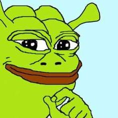 This is a Shrek Pepe. It is a very rare and holy Pepe. It appears once every 500,000 Pepes. Reblog in twenty seconds to appease the Ogrelord. Shrek is love. Shrek is life. Shrek is everything.