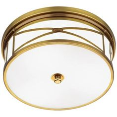 "Robert Abbey Chase Brass 15"" Wide Flushmount Ceiling Light, $301.91"