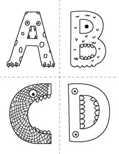 Monster Alphabet Flash Cards to Color by Our Time to Learn | TpT Learning The Alphabet, Fun Learning, Science Worksheets, To Color, Teacher Hacks, Teacher Newsletter, Monsters, Card Stock, Scary