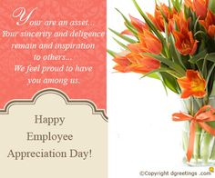 employee thank you quotes Wish Happy Employee Appreciation Day to your loved ones by sending . Appreciation Note, Employee Appreciation, Employee Thank You, Happy Employees, Thank You Quotes, Sample Resume, Wish, First Love, Feelings