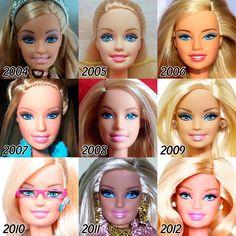 Voici à quoi ressemble l'évolution de la célèbrepoupéeBarbieentre 1959 et 2015 ! Commercialisée depuis 1959 par Mattel