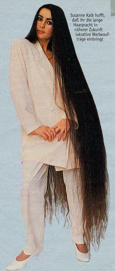 Susanne Kalb long hair down to the floor