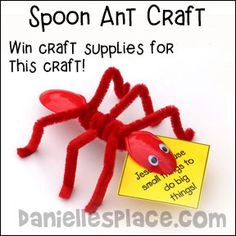 Plastic Spoon Ant from daniellesplace.com