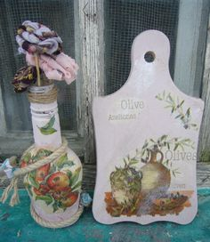 Glass Jars for Craft Projects | Kitchen crafts: glass and wood decoupage ideas | DIY crafts, decoupage ...