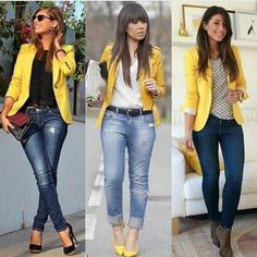 business attire tips Casual Work Outfits, Blazer Outfits, Blazer Fashion, Denim Outfit, Modern Outfits, Work Attire, Classy Outfits, Chic Outfits, Fashion Outfits
