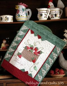 Debby Kratovil Quilts: Please Don't Pick on My Strawberries!