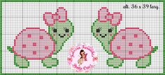 New crochet animals turtle cross stitch ideas Baby Cross Stitch Patterns, Cross Stitch For Kids, Cross Stitch Borders, Cross Stitch Baby, Cross Stitch Animals, Hand Embroidery Patterns, Cross Stitch Charts, Baby Knitting Patterns, Cross Stitch Designs