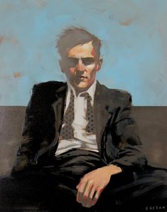 "Michael Carson, """"Unwind"","" ""20"" x 16"""" Bonner David Galleries SOLD"