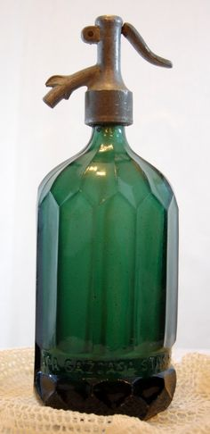Cool Vintage Seltzer Bottle - think from France (have one like this and LOVE it!)