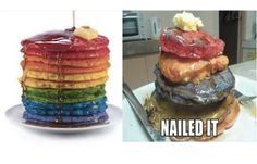 All the colors of the rainbow.....well almost, lol!  These have to be one of my favourite 'funnies' (craft, DIY or cooking fails) - I have no idea why they make me laugh so much, but they do.  This is the sort of stuff that makes me love people - God bless em' for trying, hahaha.