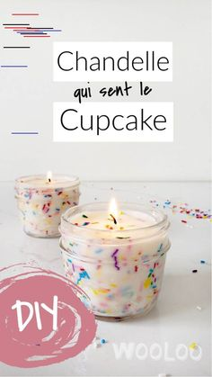 Faire une chandelle qui sent le cupcake - picture for you Diy Cupcake, Fun Cupcakes, Vanilla Cupcakes, Cupcake Candle, Natural Candles, Diy Candles, Mason Jar Crafts, Mason Jar Diy, How To Make Homemade