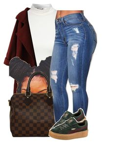 """puma at its best.."" by trinityannetrinity ❤ liked on Polyvore featuring Jane Norman, WithChic, Louis Vuitton and Puma"