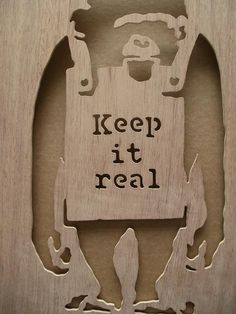 Banksy Keep It Real Chimp Wooden Stencil by existencil on Etsy