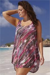 Plus Size swimsuitsforall Adventure High-Low Tunic