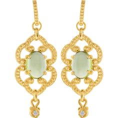 Vintage Style Mint Peridot and Diamond Earrings #earrings #Summer #BettyWhiteJewelers #Houma