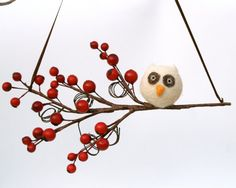 Adorable little snow owl ornament available on Etsy...