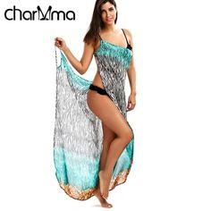 Beach Cover Up Zebra Print Open Back Wrap Beach Dress Bikini Cover Ups Swimwear Plus Size Women Tunic Pareo Beachwear