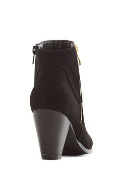 Forever and Clever Bootie. You always keep a lookout for go-to pieces, and these matte-black booties have your attention. #black #modcloth