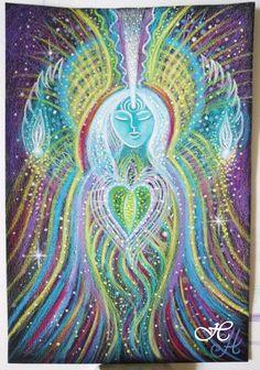 Angel of Sacred Prayer Original artwork by Visionary by HMRsoul