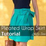 DIY Pleated Wrap Skirt Tutorial