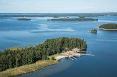 Aerial view of the archipelago  www.visitporvoo.fi