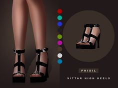 Vittar high heels at Phixil Sims • Sims 4 Updates