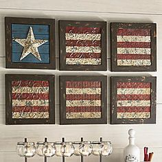 Rustic patriotic wall art - saw this in a catalog the other day. Made me think of someone special. :-)