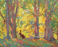 Woman In The Park, 1919,Ion Theodorescu-Sion. #Impressionism #Art #Impresionismo #Impressionismus #Impressionnisme #印象主義 #Импрессионизм  - https://wp.me/p7Gh1Z-2n8 #kunst #art #arte #sztuka #ਕਲਾ #konst #τέχνη #アート