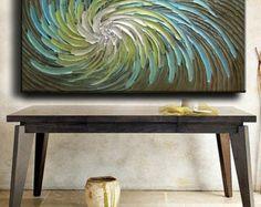 Abstract Painting 52 x 26 Original Custom Heavy door artoftexture
