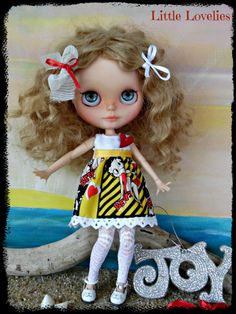 """BLYTHE DOLL dress - OOAK """"Blythe & Betty"""" - Christmas or Party dress by CooeeChris on Etsy"""