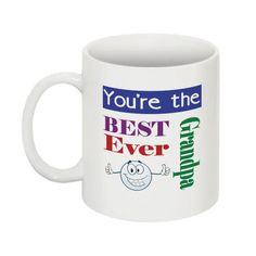 You're The Best Ever Grandpa Mug by on Etsy You're Awesome, Good Things, Mugs, Unique Jewelry, Tableware, Handmade Gifts, Etsy, Vintage, You Are Amazing