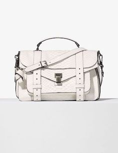 white python PS1 bag #style #fashion #accessories