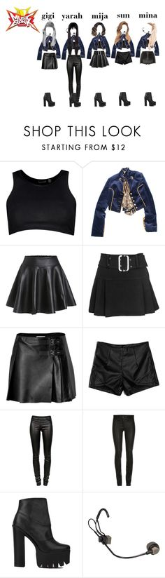 """""""Music Bank TROUBLE performance"""" by ariaofficial ❤ liked on Polyvore featuring Boohoo, RED Valentino, Helmut Lang, ElleSD and Dolce&Gabbana"""