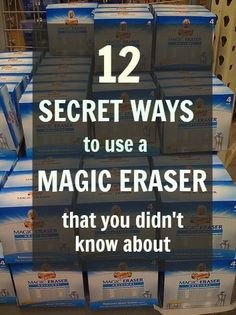 Thrifty Thursday: Top Twelve Magical Uses for a Magic Eraser! - Diy Hacks Home Household Cleaning Tips, Car Cleaning, Diy Cleaning Products, Cleaning Solutions, Spring Cleaning, Cleaning Hacks, Household Chores, Cleaning Recipes, Green Cleaning