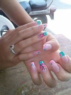 Crazy Nail Art, Crazy Nails, Fancy Nails, Pretty Nails, Nail Art Diy, Diy Nails, Pastel Nails, Acrylic Nails, Butterfly Nail Art